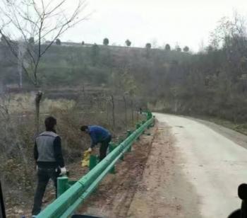 乡村道路防撞护栏安装